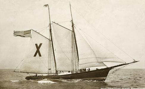 Ship X Pilot Boat - Vintage Restored Sailing Art Print