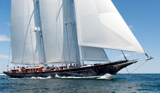 Royal Huisman Schooner Meteor at the Newport Bucket Regatta in Newport, RI 2014