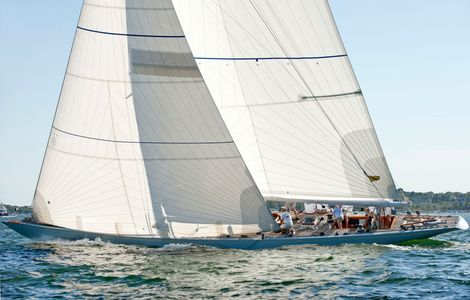 12 Metre Columbia at the Museum of Yachting - IYRS Regatta in  Newport, RI