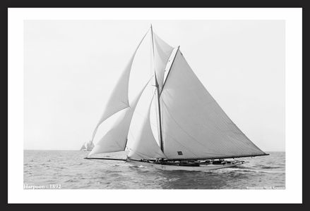 Vintage Sailing - Restored Sailboat Art Prints for Home & Office