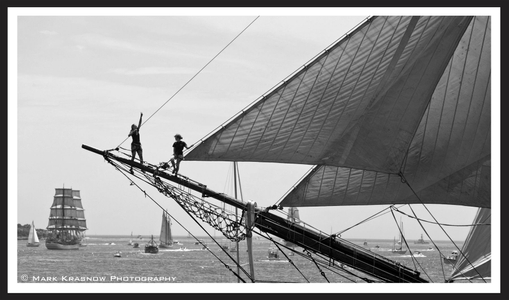 HMS Bounty - On the Spar on Newport, RI Parade of Sail