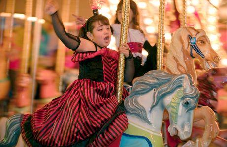 Carousel in Salem for Halloween