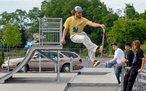 skateboarder doing tricks at skatepark in Beverly