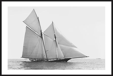 America's Cup - Volunteer - Late 1800's -  Photo Restoration Art Prints