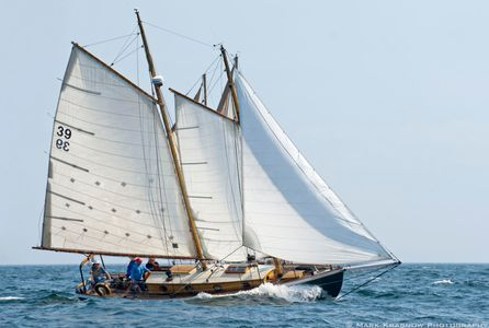 Schooner Green Dragon - Sailboat Art prints for home and office