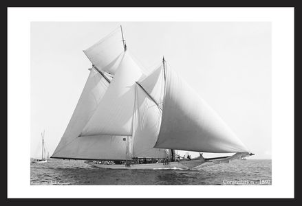 Constellation - 1892  - Historic sailing photography art print restoration