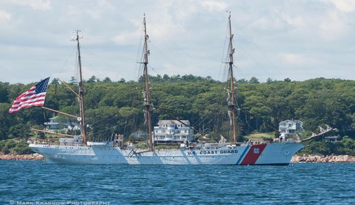 USCG Barque Eagle in Gloucester, MA - Sailboat Art prints for home and office