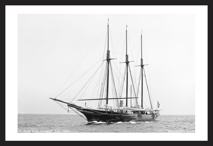 Steam Yacht Inbtrepid - Vintage Sailing Restoration Art Print  - Late 1800's