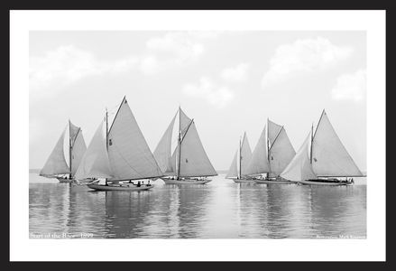Start of the Races - 1899  - Vintage sailing photography art print restoration
