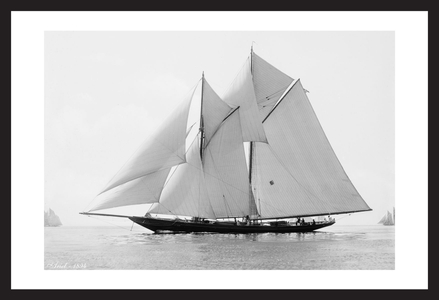 Vintage Sailboats - Ariel - 1894 - Historic art print restoration