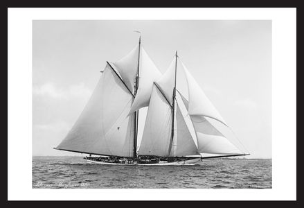 Vintage sailboat art prints - America's Cup Late 1800's