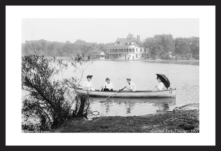 Garfield Park, Chicago 1907 - historic black & white photography art print restorations