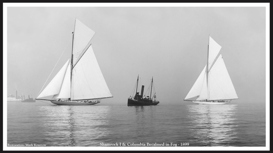 America's Cup - Shamrock I & Columbia - 1899 - Vintage Sailboats for Home & Office Interiors