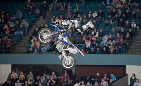 Freestyle Motocross racing stunt