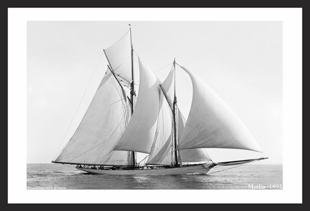 Vintage Sailboats - Restored Sailing Art Prints for Home & Office
