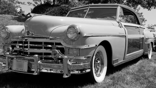 Chrysler Town & Country black & white photography art print