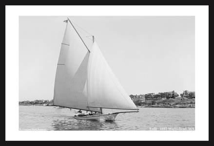 Exile in Marblehead, MA -1892  - Vintae sailing photography art print restoration