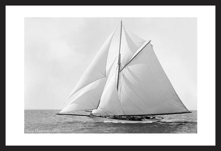 Antique sailing art prints - Sloop Harpoon - 1892