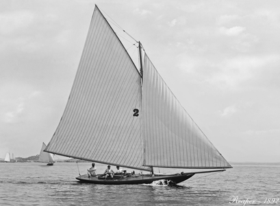 Vintage Restored Sailing Art Print - Reaper 1892