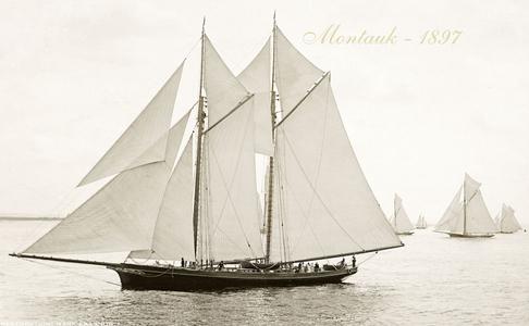 Montauk 1897 - Vintage Restored Sailing Art Print