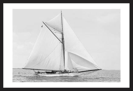 Historic Sailing art print photo restorations - Mischief - Morgan Cup Winner 1891