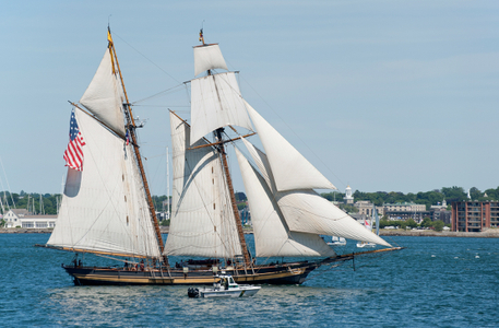 Pride of Baltimore II in Newport Parade of Sail