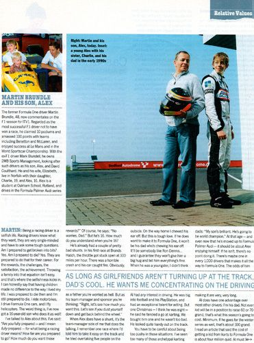 Martin Brundle and his son Alex, photographed for The Sunday Times Magazine
