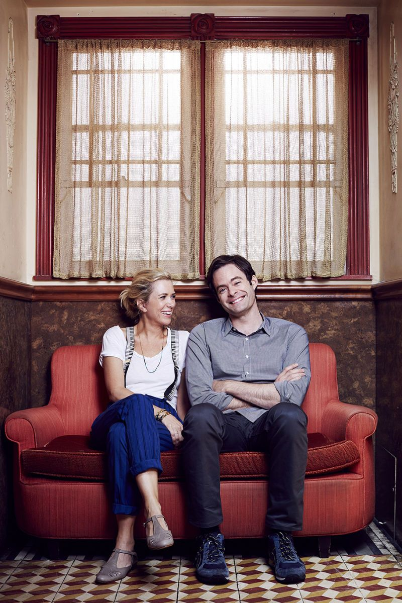 Kristen Wiig and Bill Hader by Emily Shur for The New York Times