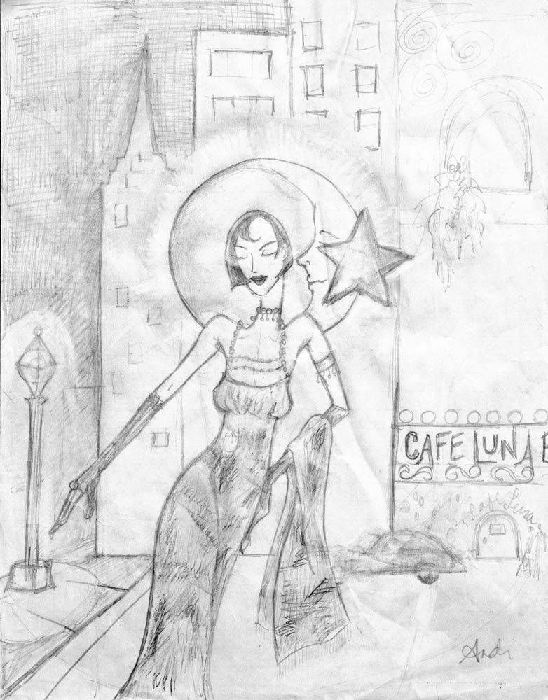 "sketch for ""Power of the Sexy Flapper"""