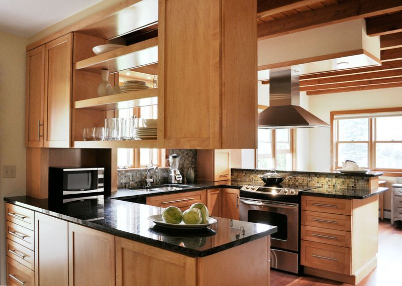 Design And Remodel Small Kitchen In Post And Beam Haven Design Building Assoc Llc Handyman Services Nsb