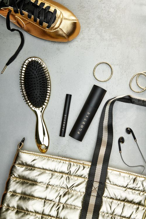Gym bag with beauty products
