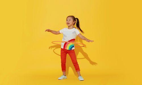 Girl with Rainbow Shirt
