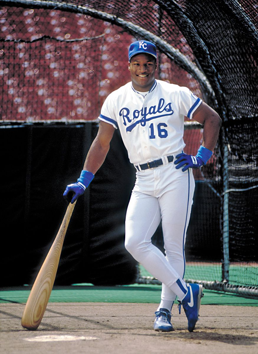 Bo Jackson with his BIG BAT