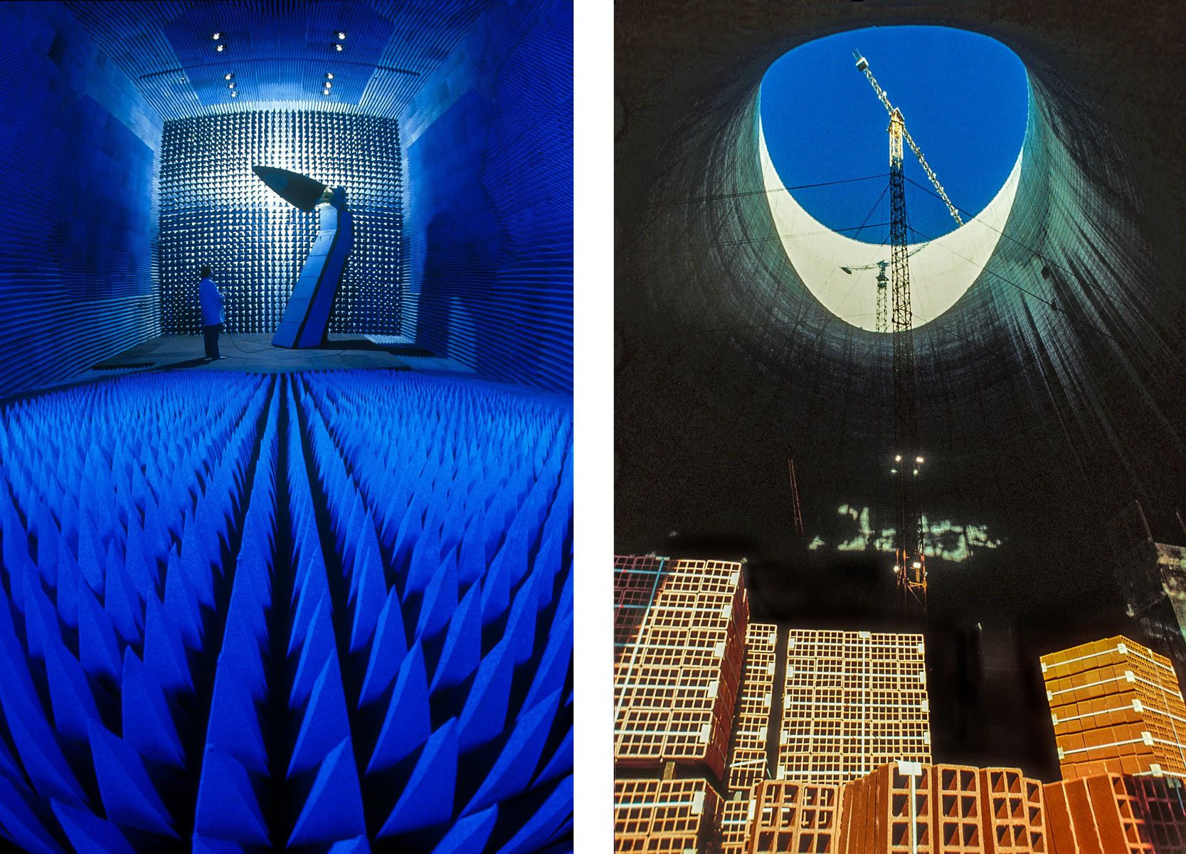 Anecohic Test Room and Nuclear Cooling Tower with Bricks