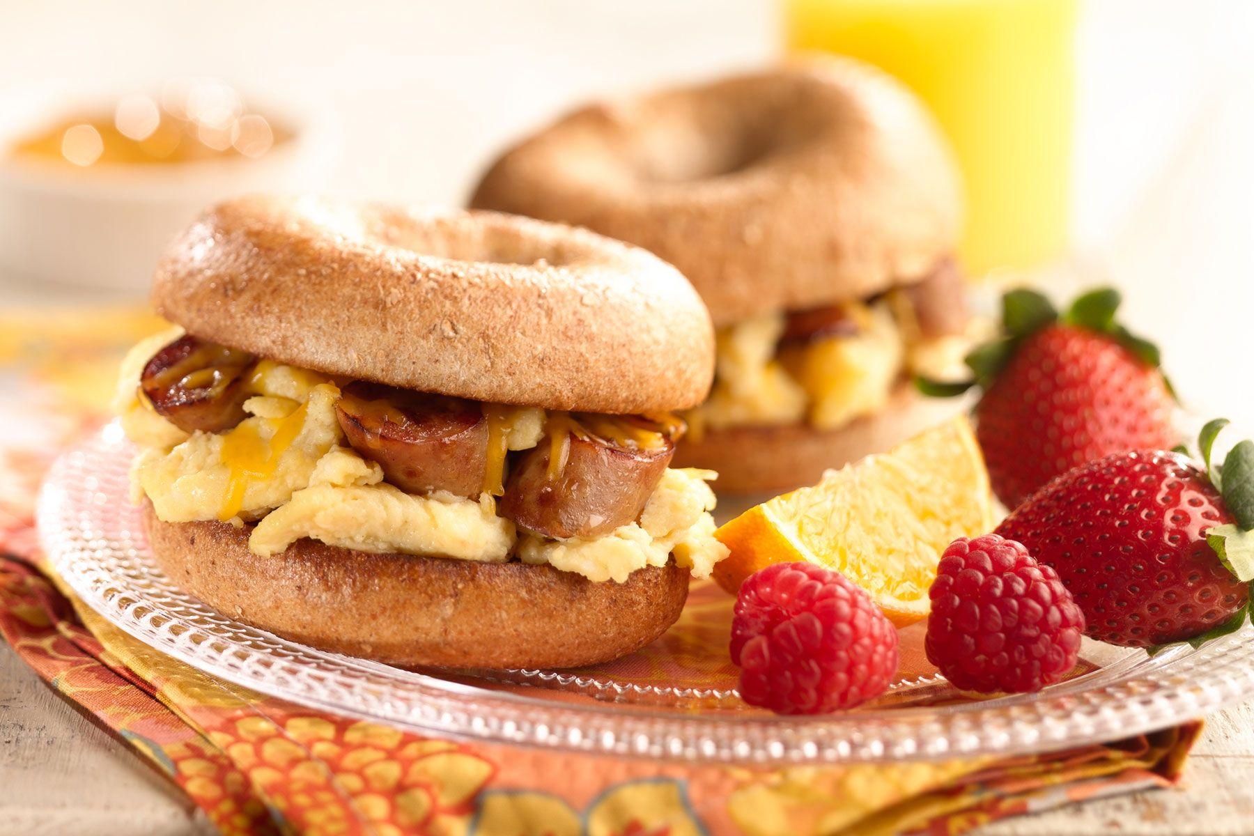 Breakfast sandwich sliders