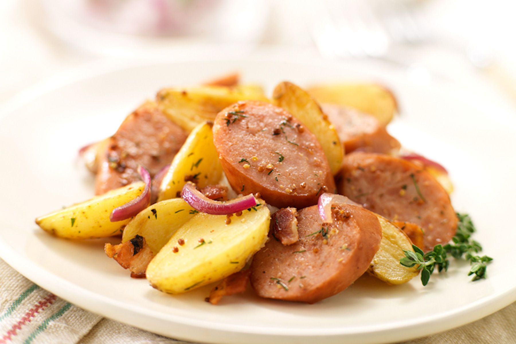 Sausage and fingerling potatoes