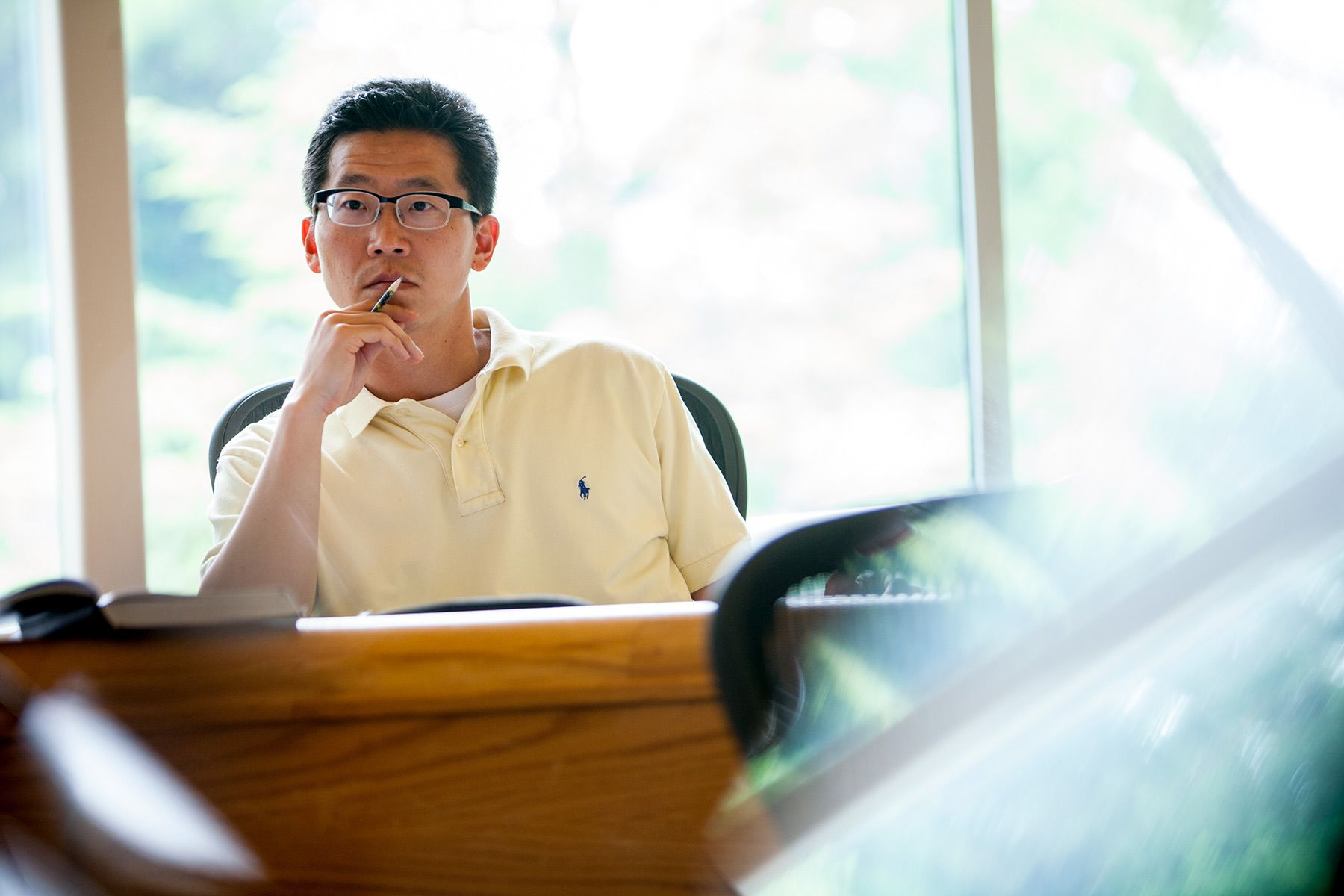 Calvin Theological Seminary student in class..jpg
