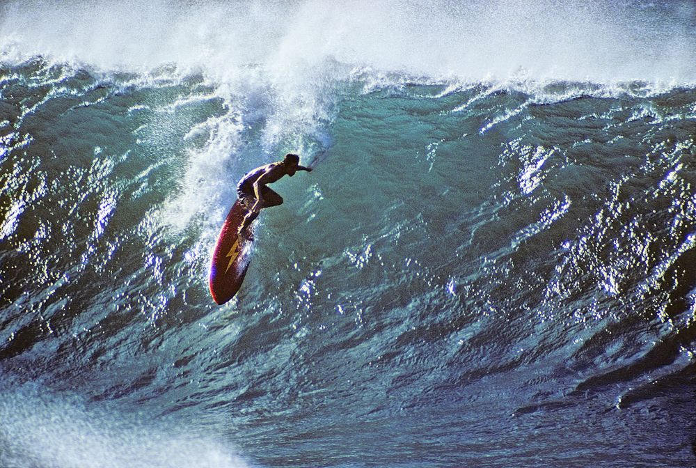 GERRY LOPEZ, PIPELINE, OAHU, HI. 1971 EXPRESSION SESSION.