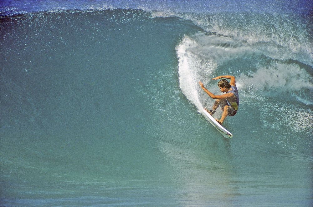 TOM CURREN , OFF THE WALL, OAHU, HI. 1984