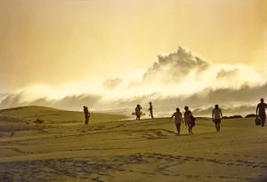 1974 , BEACH WALKERS, KE IKI BEACH , OAHU, HI.