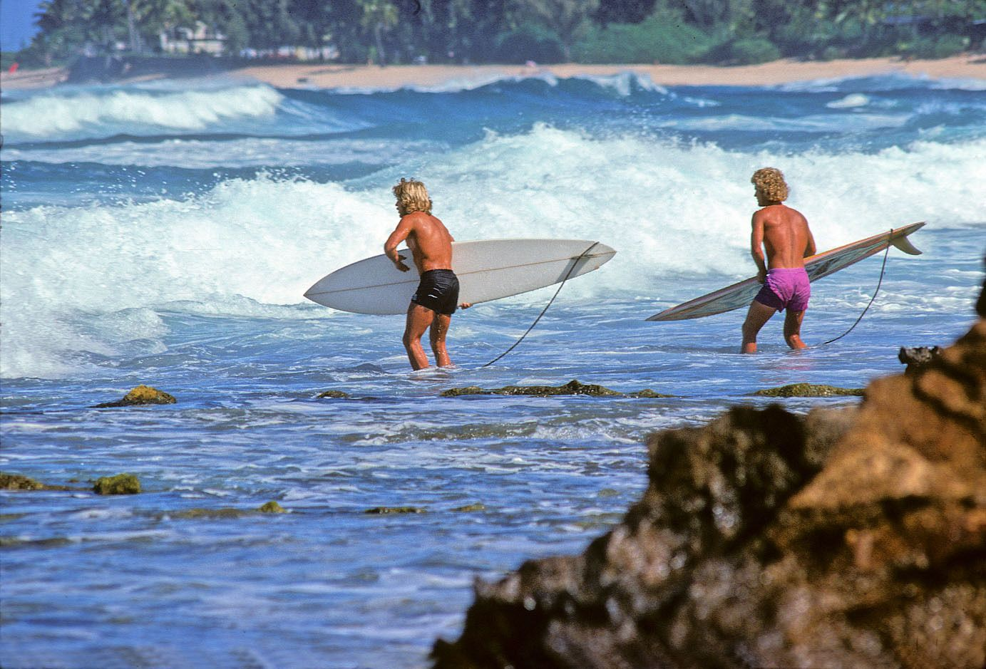 SAM HAWK, TERRY FITZGERALD, ROCKY POINT , OAHU, HI. 1976.