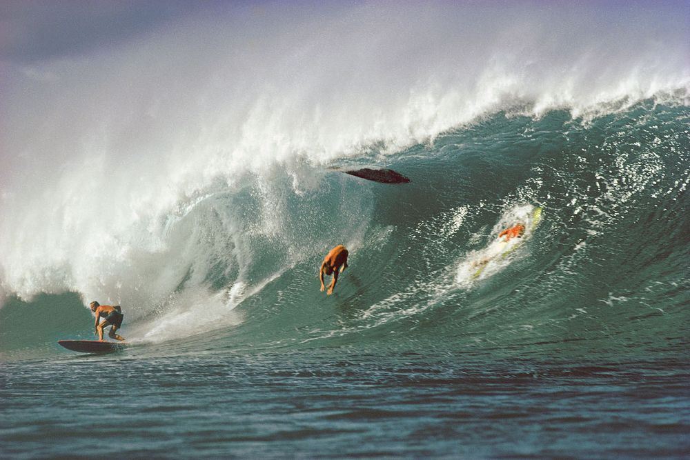 PIPELINE, OAHU, HAWAII. 1974.