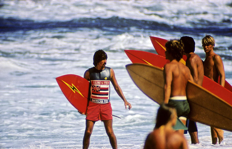 GERRY LOPEZ SUNSET BEACH, OAHU, HI. 1974