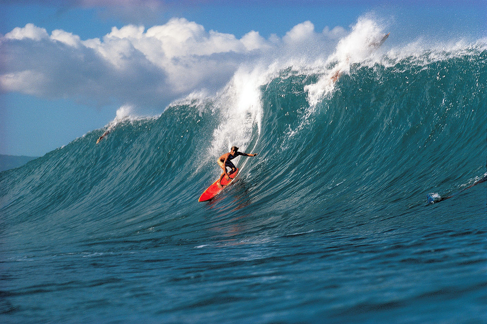 RORY RUSSELL, PIPELINE , OAHU,. HI. 1974.