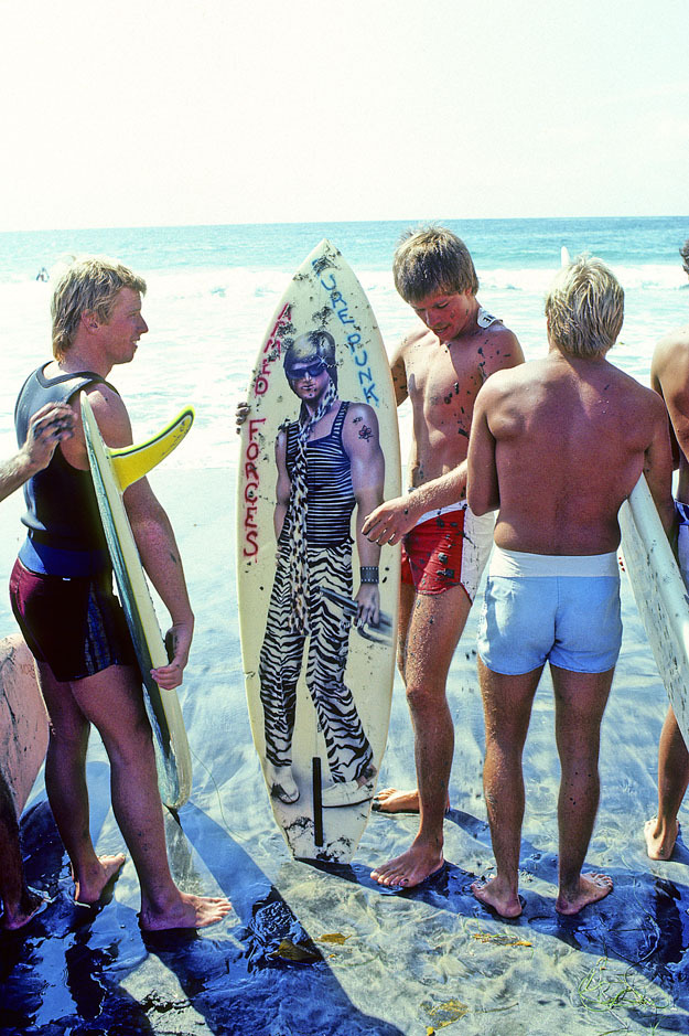 DEAN HOLLINGSWORTH, CARDIFF  REEF, SAN DIEGO, CALIF. 1981.