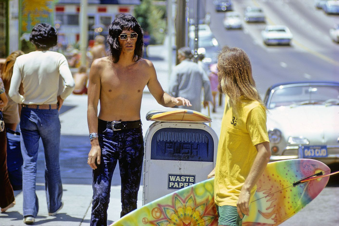 DAVID NUUHIWA , JOHN GALE, PCH ,LAGUNA BEACH CALIF 1971.