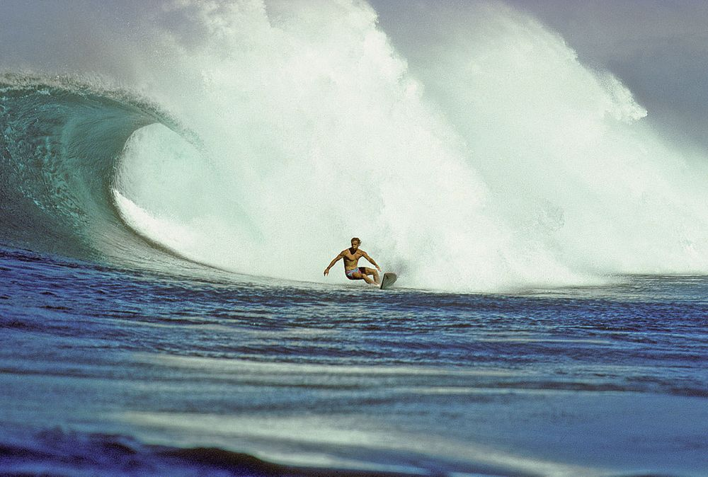 TOM CARROLL, SUNSET BEACH, OAHU, HI. 1984