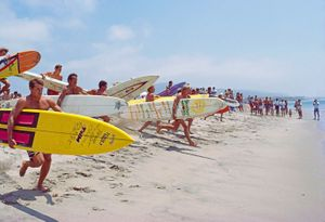 1984 PADDLE RACE .,SAN CLEMENTE , CALIF.