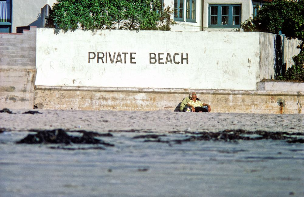 1970, La Jolla Shores, Calif . The White house.