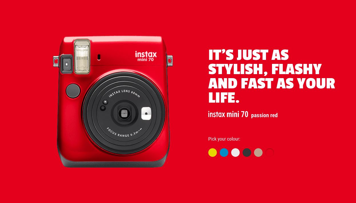 Fuji Instax mini 70 passion red